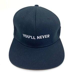 4/$25 Gents 'You'll Never' Baseball Hat NEW